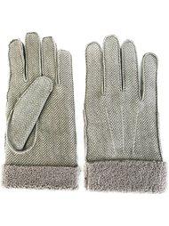 перчатки в елочку Canali