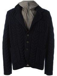 многослойная трикотажная куртка Canali