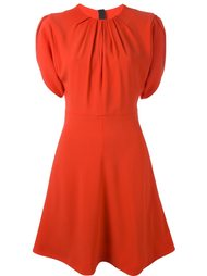 расклешенное платье со складками MSGM