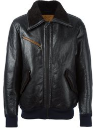 leather bomber jacket Golden Goose Deluxe Brand