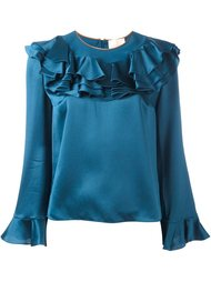 блузка с рюшами Roksanda