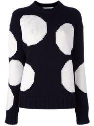 свитер с принтом кругов  MSGM