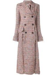 удлиненное двубортное пальто Alessandra Rich