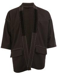 open shortsleeved jacket Wooster + Lardini