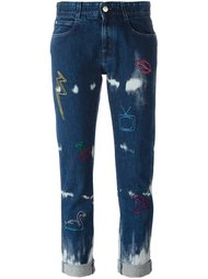 джинсы 'Boyfriend' с вышивкой Stella McCartney