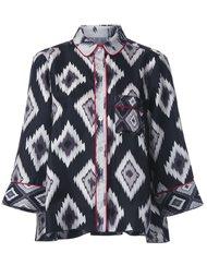 пижамная рубашка с геометрическим узором For Restless Sleepers