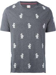 футболка с вышивкой птиц Moncler Gamme Bleu