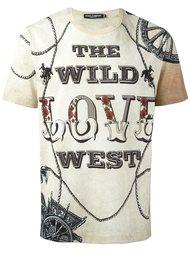 футболка с принтом 'Wild love' Dolce & Gabbana