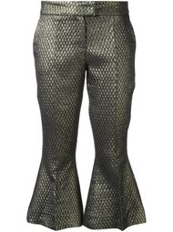 укороченные брюки с эффектом металлик Elaidi