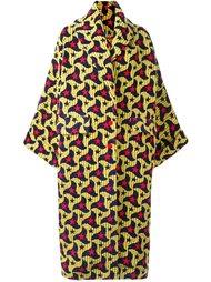 пальто свободного кроя с абстрактным узором Ultràchic