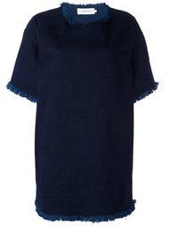 джинсовое платье с необработанными краями   Marques'almeida