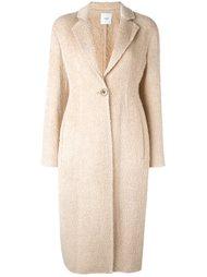 однобортное пальто Agnona