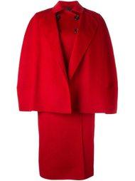 двубортное объемное пальто Agnona
