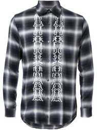 'symbols' print plaid shirt Christian Dada