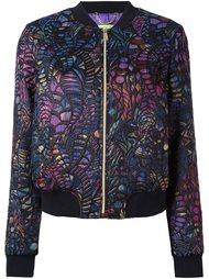 жаккардовая куртка-бомбер  Versace Jeans