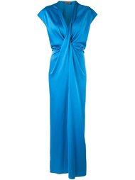 платье c V-образным вырезом   Lanvin
