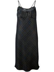 платье на бретелях с кружевной панелью Maison Margiela