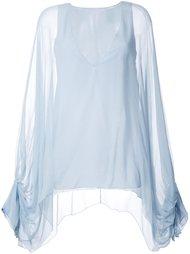 блузка с объемными рукавами Chloé