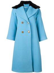 двубортное расклешенное пальто Vivetta