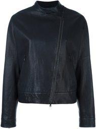 collarless asymmetric zip jacket Brunello Cucinelli