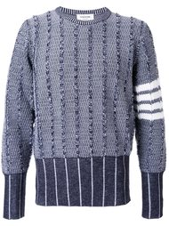 striped arm sweater Thom Browne