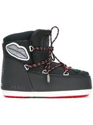 зимние ботинки с нашивками MSGM