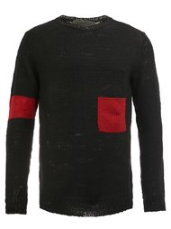 cashmere colour block sweater The Elder Statesman