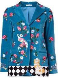 пиджак с цветочной вышивкой  Vivetta