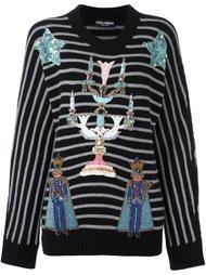 декорированный свитер  Dolce & Gabbana