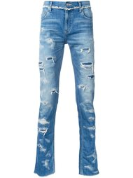 ripped slim-fit jeans Christian Dada