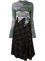 платье с комбинированным принтом Maison Margiela