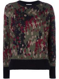 свитер с абстрактным принтом Moncler