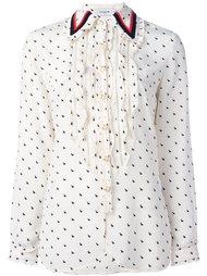 ruffled rabbit print shirt Coach