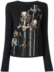 свитер с цветочным принтом   Cavalli Class