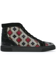 hi-top embellished sneakers Louis Leeman