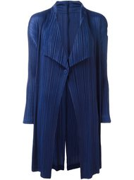 pleated draped ligthweight coat Pleats Please By Issey Miyake