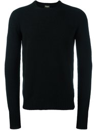 crew neck fine knit jumper Drumohr