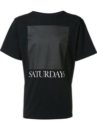 logo print T-shirt Saturdays Surf Nyc