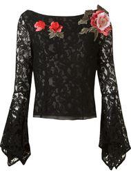 кружевная блузка 'marescot' с цветочной аппликацией Martha Medeiros