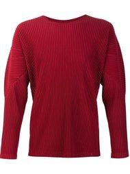 pleated crew neck sweatshirt Homme Plissé Issey Miyake