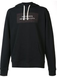logo print pullover hoodie Saturdays Surf Nyc