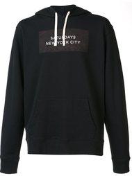 logo print pullover hoodie Saturdays Surf Nyc