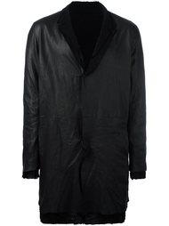 пальто с необработанными краями Salvatore Santoro