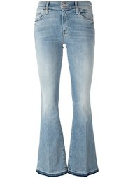 расклешенные джинсы с потертой отделкой Mother