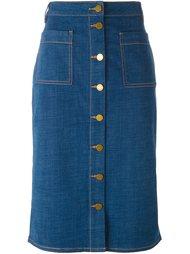 джинсовая юбка миди Tory Burch