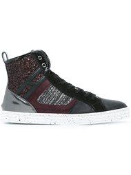glitter effect hi-top sneakers Hogan Rebel