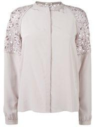 semi sheer button down shirt Dorothee Schumacher
