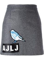 юбка с птицей из пайеток Au Jour Le Jour