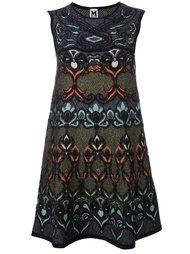 multi print shift dress M Missoni