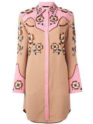 embroidered shirt dress Coach